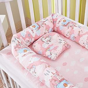 pink unicorn baby nest bed