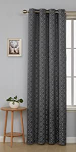 dark grey moroccan curtains for living room