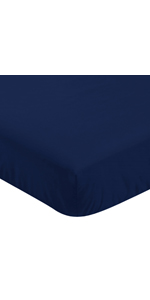 Fitted Crib Sheet for Blue and Green Modern Dinosaur Baby/Toddler Bedding Set Collection - Navy Blue
