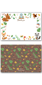 Woodland Thank You Cards