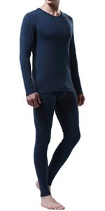 Men's Thermal Underwear Set Wicking Base Layer Winter Warm Long Johns