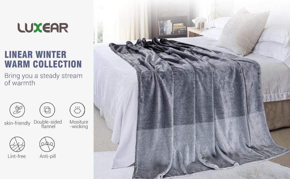 LUXEAR fleece blanket