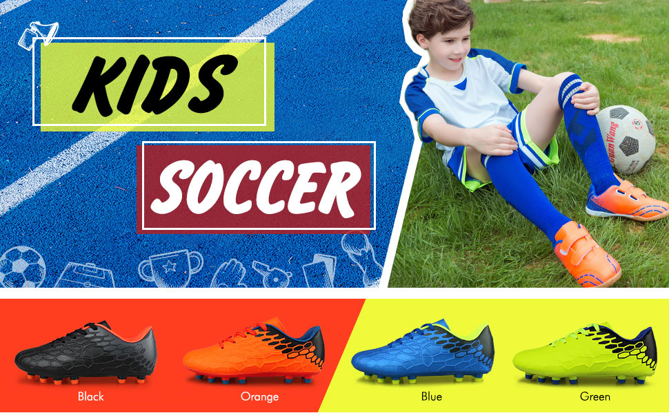 Little Kid//Big Kid ALEADER Boys Athletic Turf Indoor Soccer Shoes Football Boots
