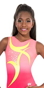 Swirl Peach Pink Leotard
