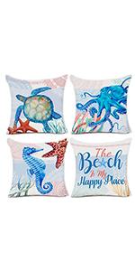 summer beach pillow covers