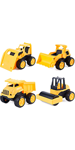 4 Packs Construction Car Toys