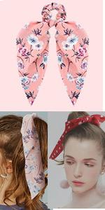 scarf bow scrunchies