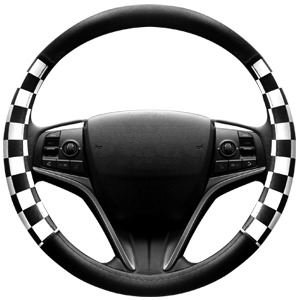 Universal Fit FINEX Silicone Batman Superhero Auto Car Steering Wheel Cover Black