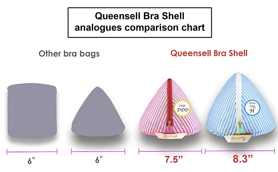 analogues Queensell bra shell bra bag for washing machine bra lingerie bags for laundry