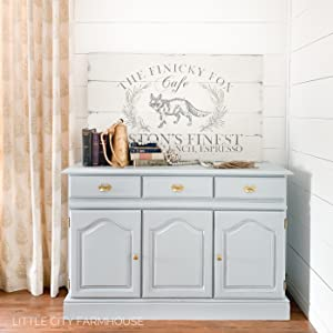 light blue grey dresser furniture paint chalk clay diy home decor upcycle craft french provincial
