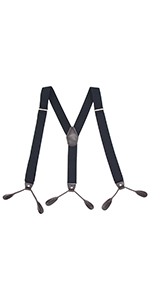 Mens Button Suspenders