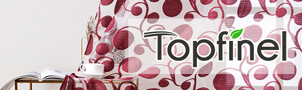 Topfinel sheer curtains