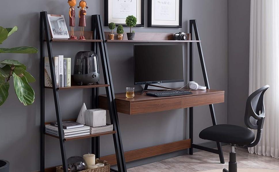 Oak martin writing desk computer chair set
