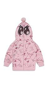 hoodie girls full zip up