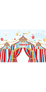 7x5ft Red Circus Photography Backdrop Carnival Carousel Big Top Baby Props