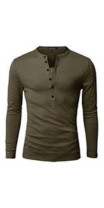 Long Sleeves Henley T Shirts