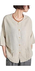 Womens Linen Rayon Blouse
