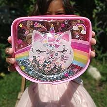 Clear Confetti Bubble Cosmetic Bag