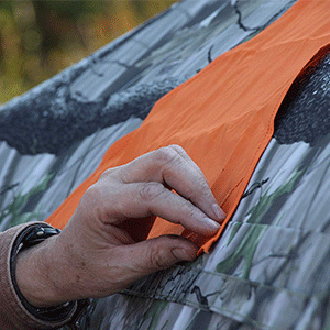 Blaze Orange Safety Blind Panels