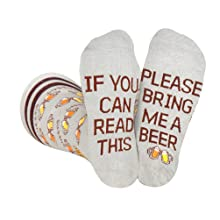 bring get me beer socks men women gift beer lover novelty fun