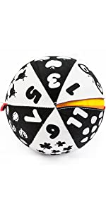 fabric ball alphabet words numbers digits educational learning toy reversable two sides play ball