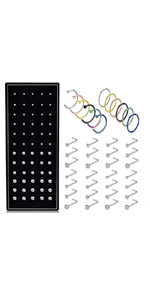 Stainless Steel Hinged Clicker Seamless Piercing Hoop Nose Ring Studs Tragus Cartilage Helix Rings