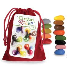 Red velvet bag, bright colors, crayon rocks, 16 colors