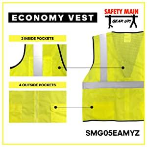 mesh back, breathable, construction surveryor vest