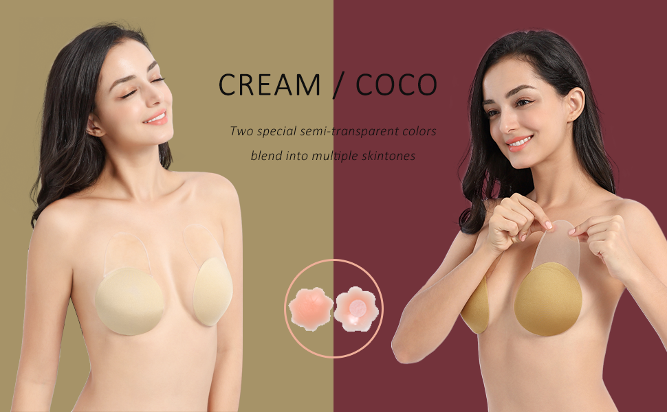 Adhesive Bra Lift Sticky Strapless Invisible Nipple-covers Backless Nippleless Pasties women breast