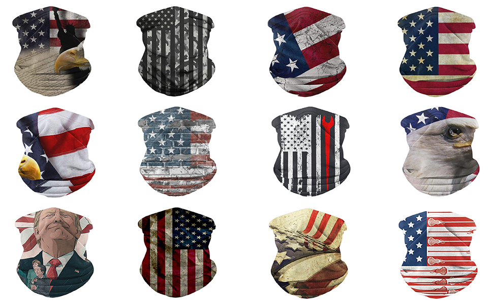 bandana face mask face scarf for women men face shield neck gaiter ski mask with filter Sport casual