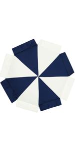 Nautica Kids Pinwheel 20x20 Round Decorative Pillow NavyWhite Decorative Pillow