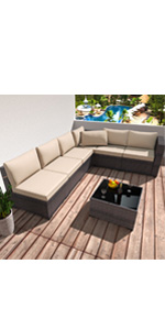 7 Piece Outdoor Furniture Set