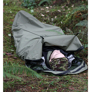 Sleeping bag tent
