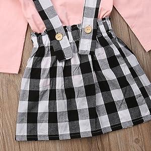toddler girl skirt set plaid