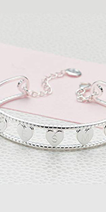 925 Sterling Silver Personalized Her Love Baby Girl's Bangle