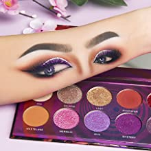 Red Eyeshadow Palette Makeup,Afflano Highly Pigmented Matte Shimmer Orange Eye Shadow Palettes