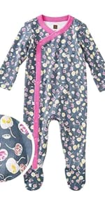 Tea Collection Footed Romper, Itsy Bitsy Ditsy Design
