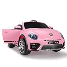 pink kids on car