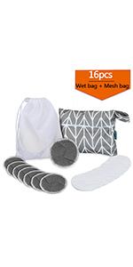 16Pcs Reusable Makeup Remover Pads
