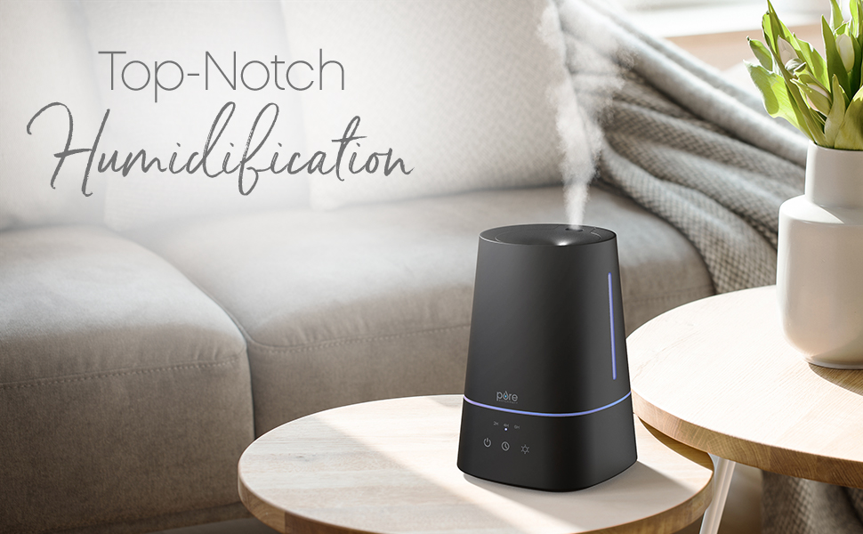 ultrasonic humidifier for large rooms, cool mist air humidifier and aroma diffuser, quiet home