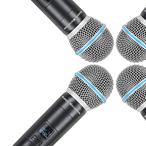 A140 4 HandHeld Wireless Microphone