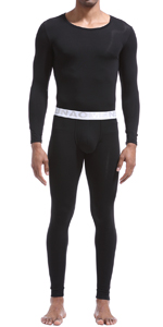 Men's Thermal Underwear Set Wicking Base Layer Winter Warm Long Johns