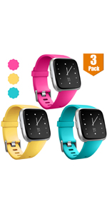 Maledan 3 Pack Bands for Fitbit Versa