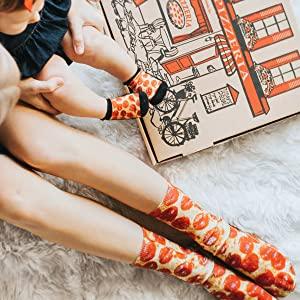 novelty pizza socks sock gift living royal matching