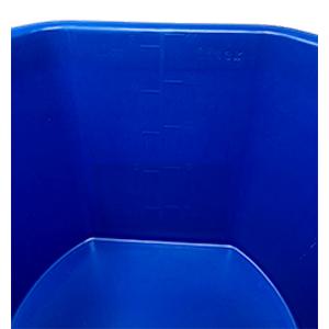 heated bucket table of measurement
