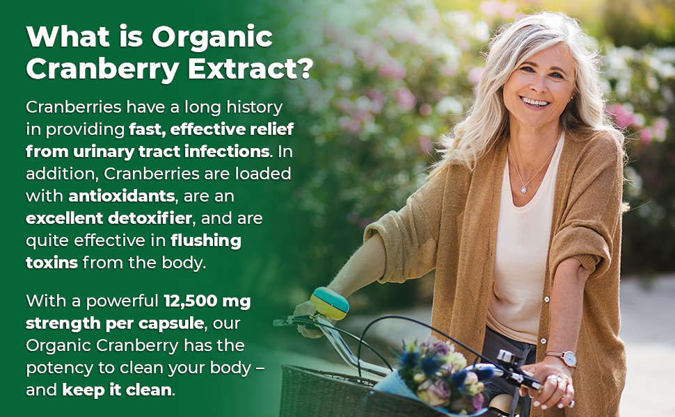Zazzee Organic Cranberry Extract is made from a potent, powerful 25:1 extract to provide fast relief