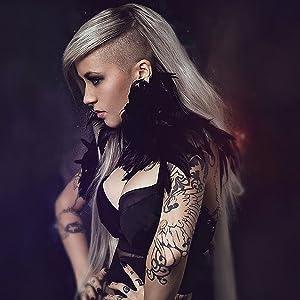 Punk Black feather Collar
