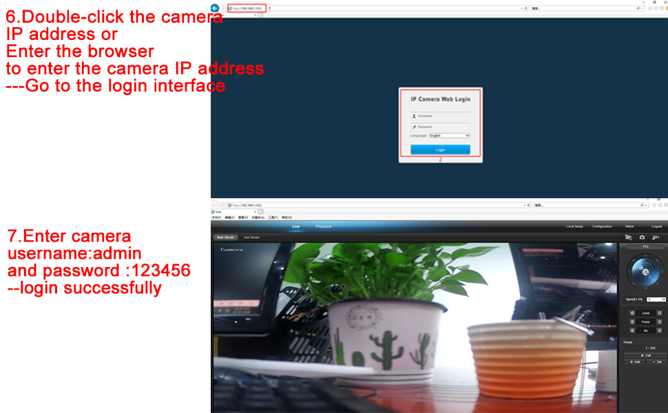 VIKVIZ Camera Network Connection and Settings