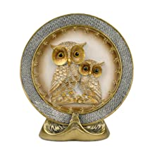 """7.7"""" Owl Embossed Décor Plate"""