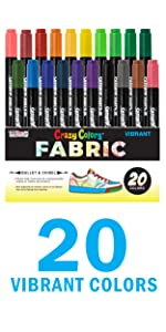 Professional Artist Quality Fabric Markers Broad Chisel Fade Proof Wash Proof